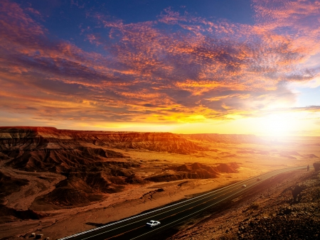 desert highway: Sunset Road