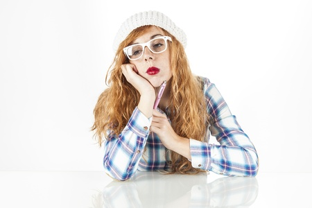 Red Head Girl Stock Photo - 17573995