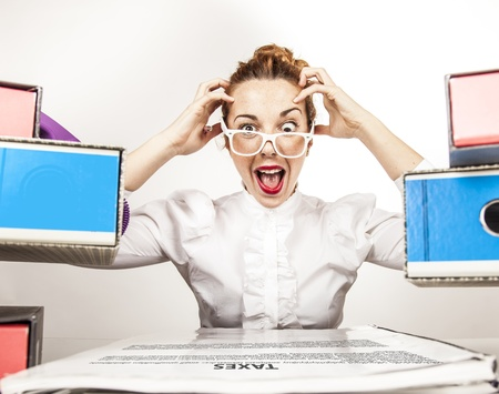 Stressed Secretary Stock Photo - 17574034