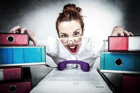 Stressed Secretary Stock Photo - 17574012