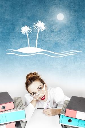 Holiday Dreaming Secretary Stock Photo - 17573973