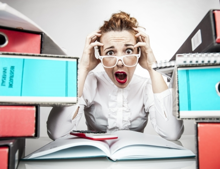 Stressed Secretary Stock Photo - 17574011
