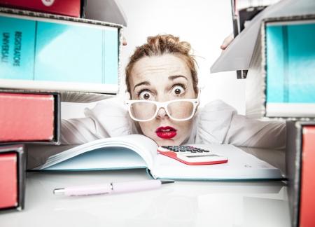 Stressed secretaris
