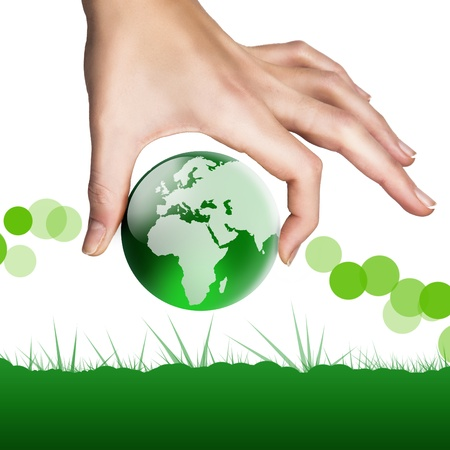World in your hand Standard-Bild