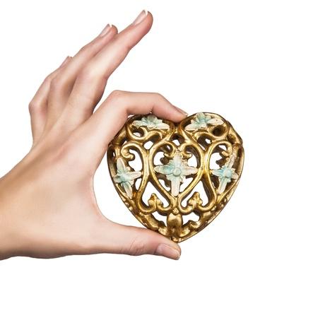 heart in hand Standard-Bild