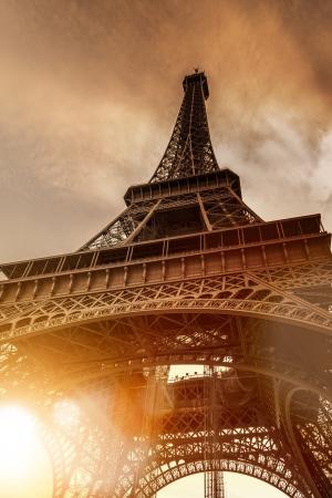 Paris Eiffel Tower during sunset Standard-Bild