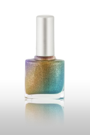 Rainbow multi color nail polish