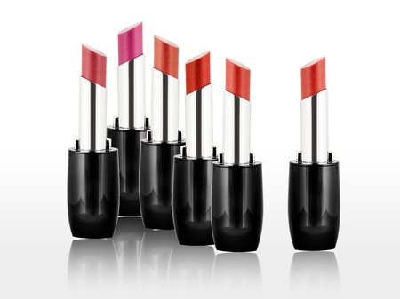 Roter Lippenstift Set