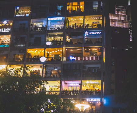 The Cafe Apartment on Saigons walking street - a super-hip building in Ho Chi Minh city