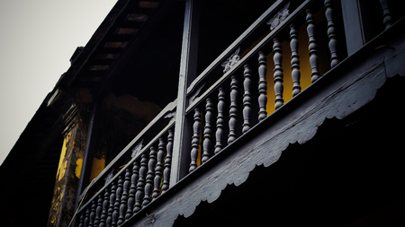 Wooden Balcony in Ancient House