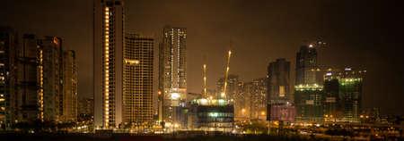 City Construction at night Stok Fotoğraf