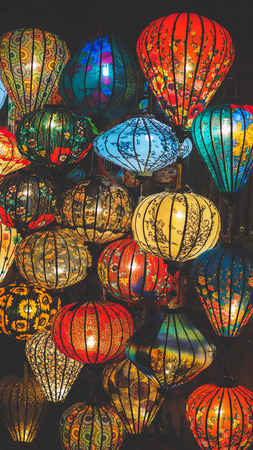 Colorful lanterns in Hoi An ancient town, Vietnam