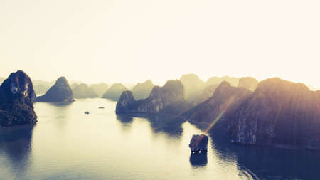 View Of Famous Halong Bay In Vietnam