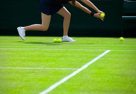 tennis skirt: Ball Girl Stock Photo