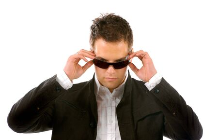 Young Business Man With sunglasses photo