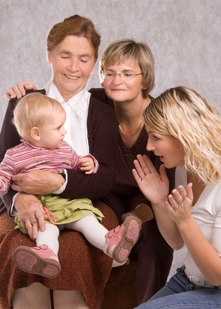 Four generations of Women in a Family Stock Photo - 2986137