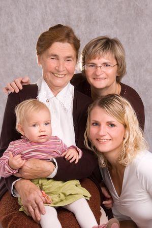 great grandmother: Cuatro generaciones de mujeres de una familia  Foto de archivo