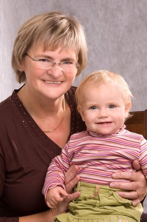 Young Grandma With Her Granddaughter photo
