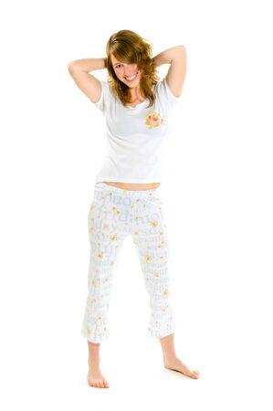 Pretty girl in pajamas photo