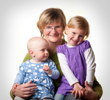 Grandmother and her Granddoughters photo