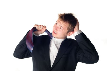 Worried businessman Stock Photo - 6954852