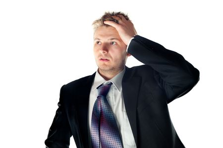 Worried businessman Stock Photo - 6954849
