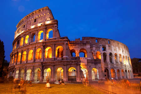 The Coliseum in Rome by night photo
