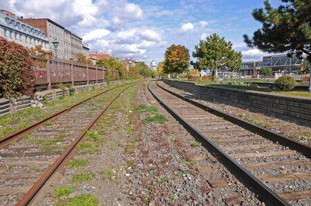 one way rail of train
