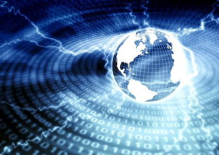 Conceptual image for global information of the Internet photo