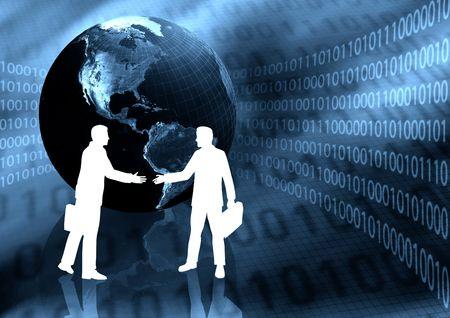 Virtual Business Handshake Stock Photo - 3881611