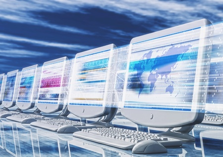 Concept  of Fast browsing with Internet Stock Photo - 9706704