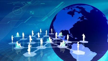 networking people: El concepto de c�mo personas conexi�n de redes sociales en internet Foto de archivo