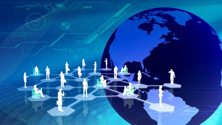 The concept of how people get connected in social network community inside the internet Stock Photo - 9706674