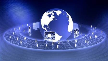 virtual world: the concept of virtual internet business business world Stock Photo