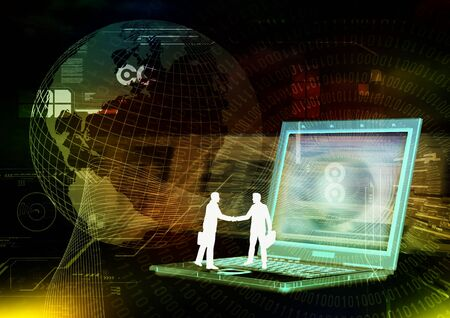 Internet business cooperation handshake