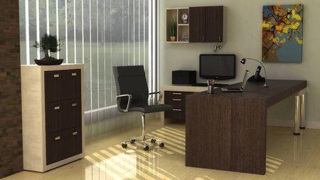 mobilier bureau: Int�rieur d'un bureau frais et naturel