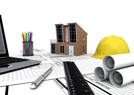Modern House plan Standard-Bild