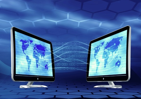 Concept of how internet connect all the places around the world Stock Photo - 9706770