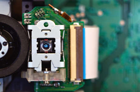 infra red: Close up shot of optical device Stock Photo