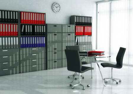 modern interior design: File & Record Room Stock Photo
