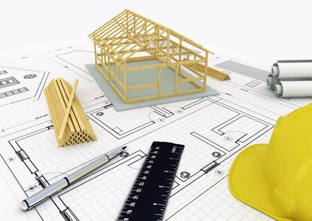 Wood House concept Stock Photo - 11299851