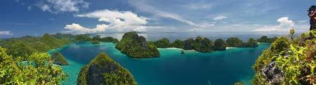 papua: Beautiful Scenery of  Wayag Island. Part of Raja Ampat Islands, papua, Indonesia. Stock Photo