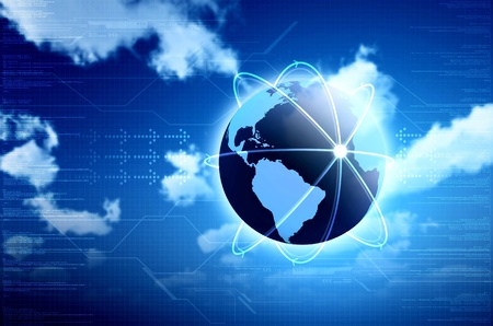 international internet: Conceptual image for information technology, cloud computing or internet. Great for backgrounds or main image in your design