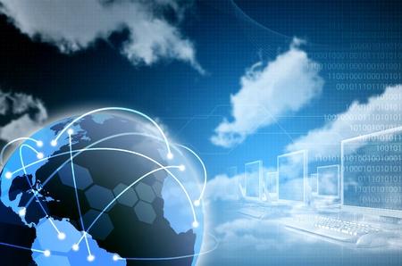 tecnología informatica: De Internet en todo el mundo y la ilustración conectividad de la información. Diseñado para la imagen de fondo. Hay un espacio todavía en la imagen para acabar con su redacción o una mezcla de los elementos de diseño especiales.