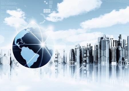 Information Technology background  Conceptual image for information technology, cloud computing or internet   photo