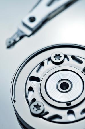 Artistic shot of a hardisk mechanics Stock Photo - 12955477