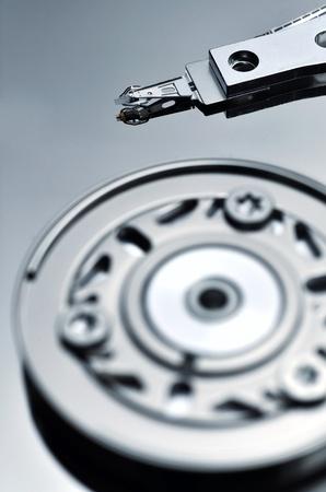 Artistic shot of a hardisk mechanics Stock Photo - 12955490