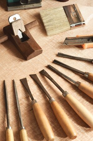 do it yourself: Do it yourself woodworking   carpenter tools in still life