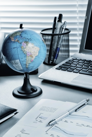 Office desk regeling schot als stilleven business concept Stockfoto