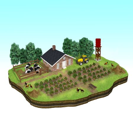 Conceptual illustration image of a farmland